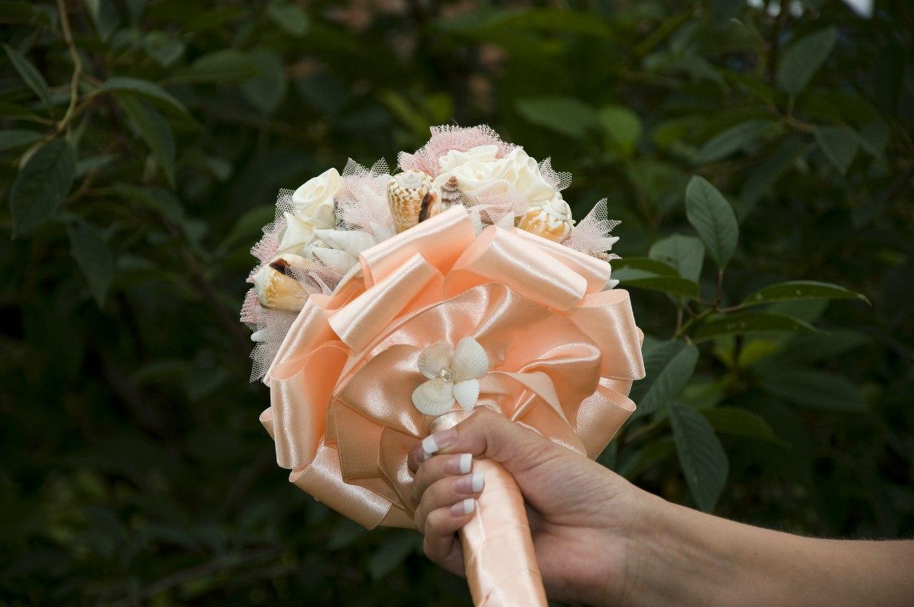 Букет на руку для подружек невесты своими руками 872